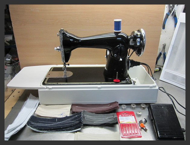 industrial strength american sewing machine heavy duty for upholstery leather ebay. Black Bedroom Furniture Sets. Home Design Ideas
